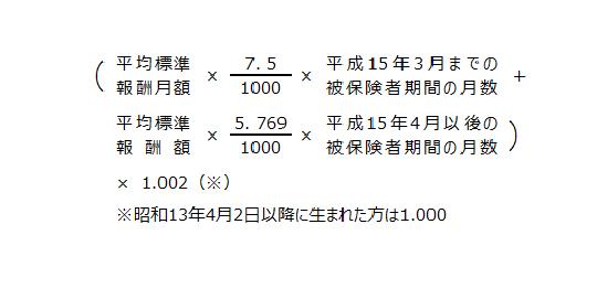 報酬比例部分の年金額